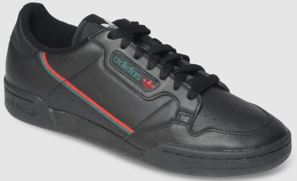 Adidas Originals Continental 80 Leather - black-red-green