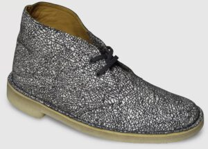 Clarks Originals Desert Boot Printed Leather Women - white-grey