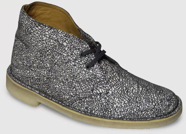 Clarks Originals Desert Boot Printed Leather Women - white-grey