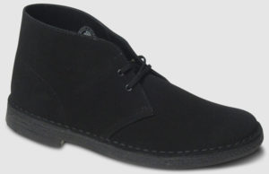 Clarks Originals Desert Boot Suede - black