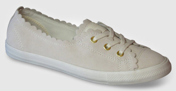 Converse All Star Ballet Lace Suede Women - egret