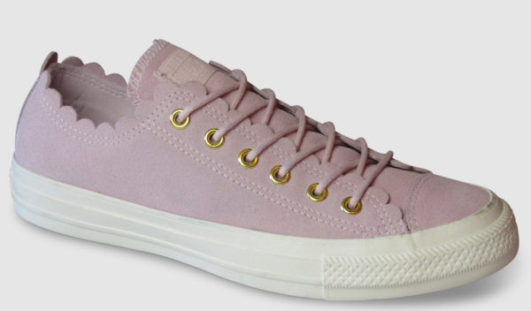 Converse All Star Frilly Ox Suede Women - pink foam