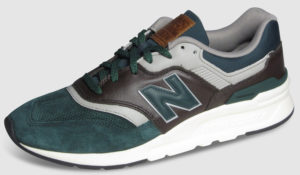 New Balance CM997 Leather - green-brown