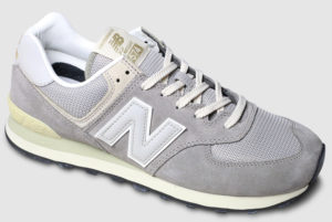 New Balance ML574 Suede Mesh-steel grey