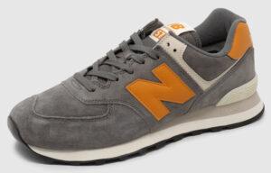 New Balance ML574 Suede - grey-caramel