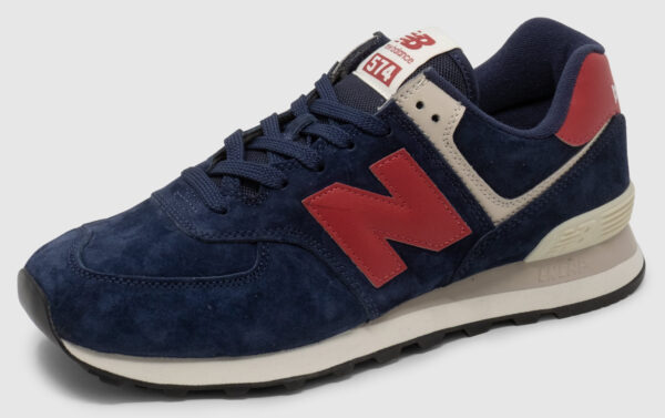 New Balance ML574 Suede - navy-red