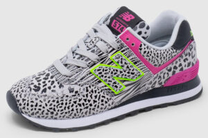 New Balance WL574 Leather Women - animal print