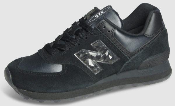 New Balance WL574 Leather Women - black mono