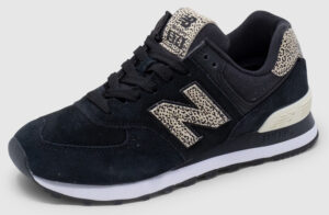 New Balance WL574 Suede Women - black-leo