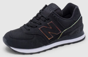 New Balance WL574 Women - black-gold