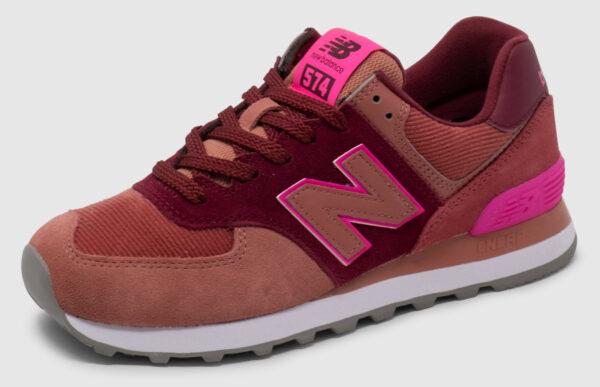 New Balance WL574 Women - burgundy-pink