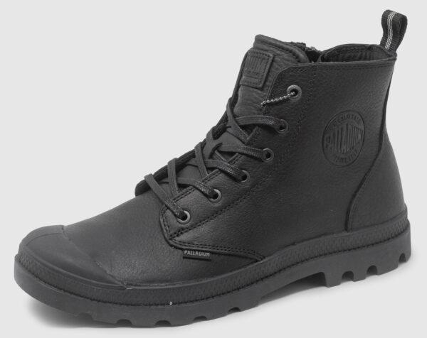 Palladium Pampa Hi Zip Leather - black