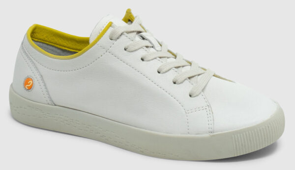 Softinos Sady Smooth Leather Women - white-lemon