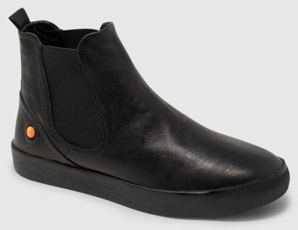 Softinos Saha Soft Leather Women - black