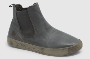 Softinos Saha Washed Leather Women - grey