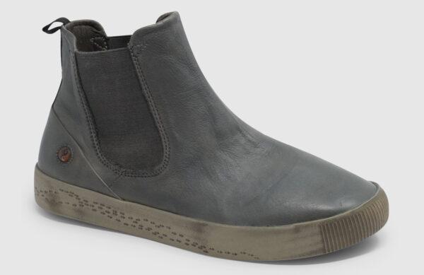 Softinos Saha Washed Leather Women - grey