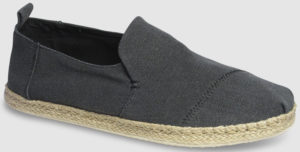 Toms Deconstructed Alpargata Washed Canvas - black