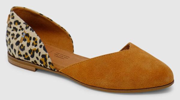 Toms Julie D'Orsay Suede - caramel-leopard