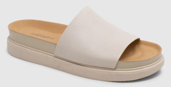 Vagabond Erin Slide Leather - off white