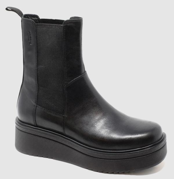 Vagabond Tara Chelsea Hi Leather - black