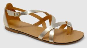 Vagabond Tia Toe Metallic Leather - gold