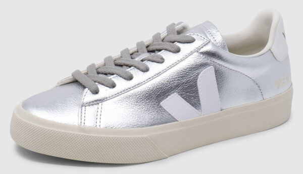 Veja Campo Leather - silver-white