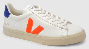Veja Campo Leather - white-orange-cobalt
