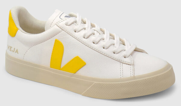 Veja Campo Leather - white-yellow