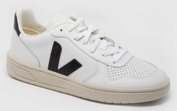 Veja V-10 Leather - white-black