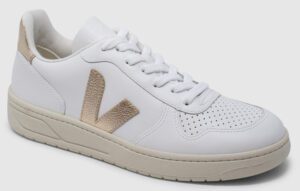 Veja V-10 Leather - white-platine