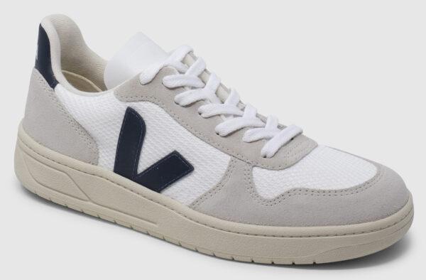 Veja V-10 Suede-Mesh - white-natural-nautico