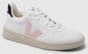 Veja V-10 Vegan - white-rose-black